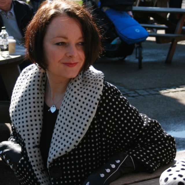 Dotty shawl jacket in wool