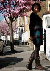 plaid wool mini skirt