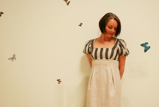 danielle with damien hurst butterflies