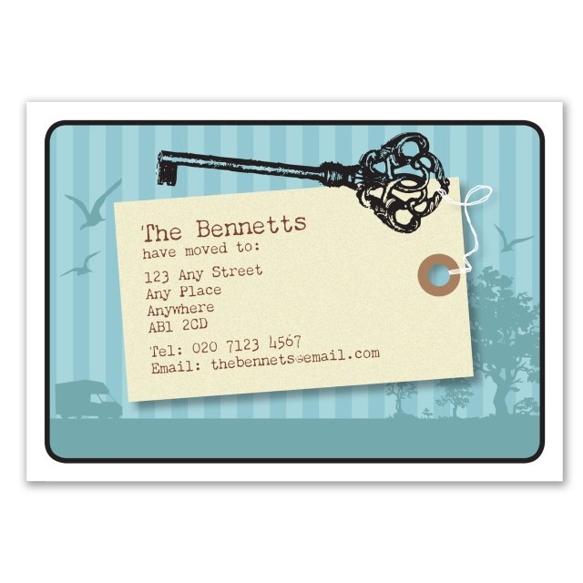 Change of address, moving card