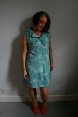 70s dress in blue