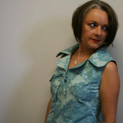 70s dress blue