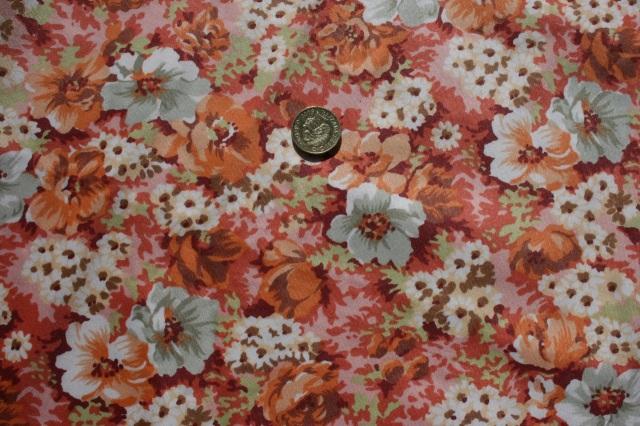 orange flower furnishing fabric
