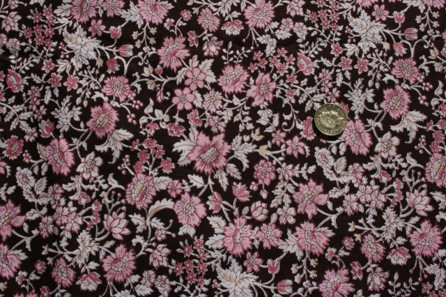 pink and brown flower design cotton
