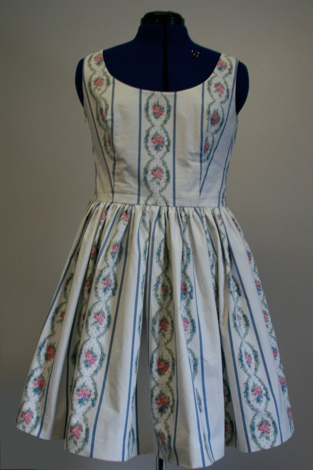 ooobop vintage sheet dress front