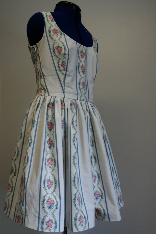 vintage sheet dress side