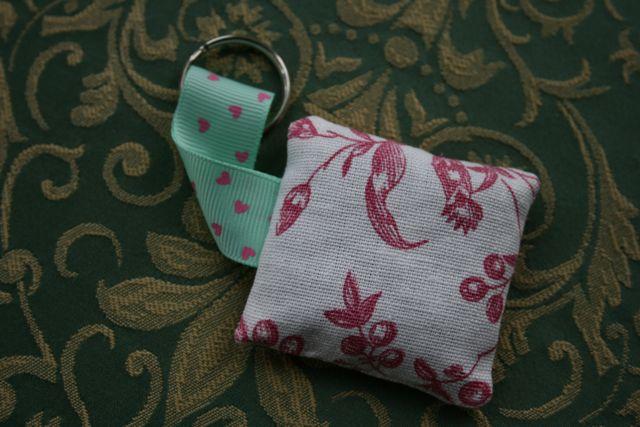 Other side of mini lavender bag keyring