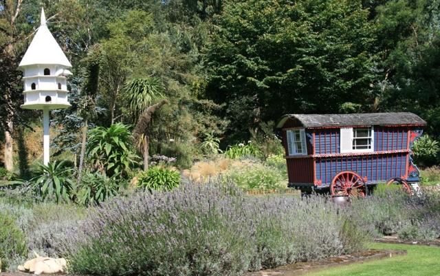 Dovecote and caravan