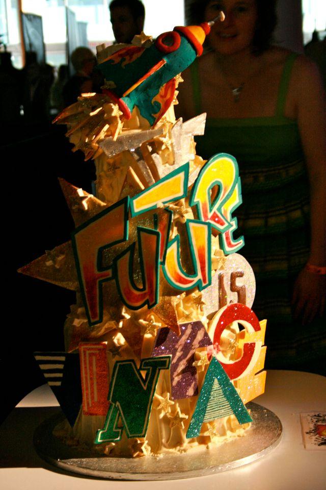 vintage festival cake