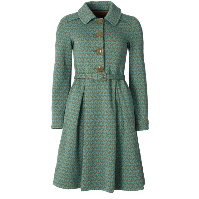 Birdie Wool Jacquard Shirt Dress