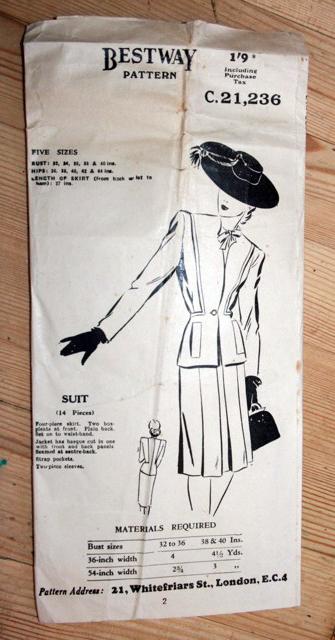 Bestway 40s: suit pattern