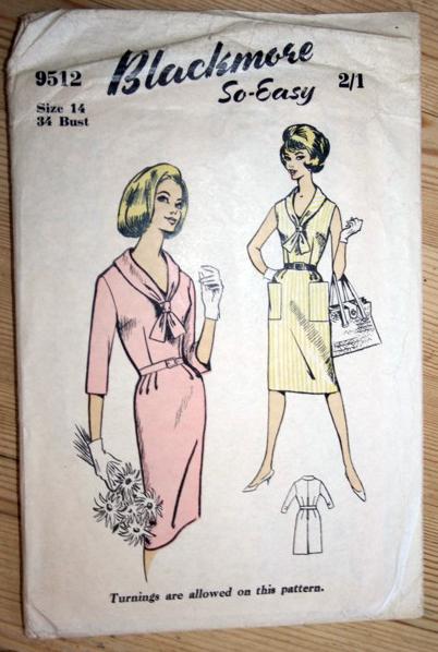Blackmore 9512: 60s dress pattern