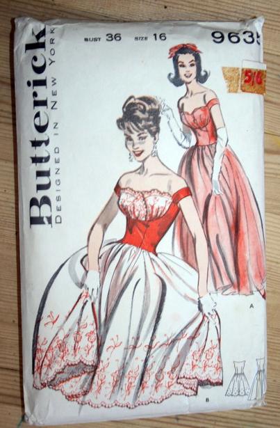 Butterick 9635: 50s dress pattern