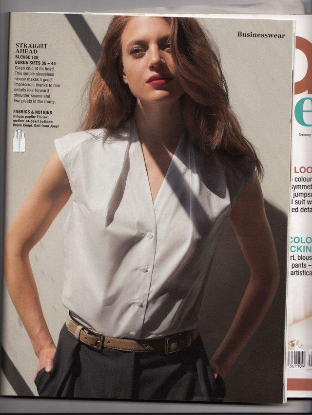burda blouse, september 2011