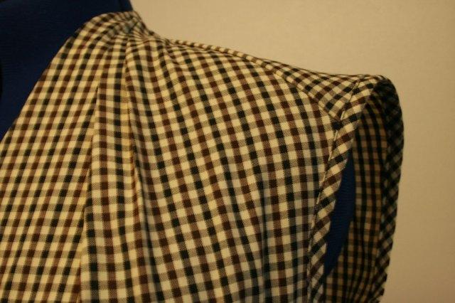 gingham blouse shoulder
