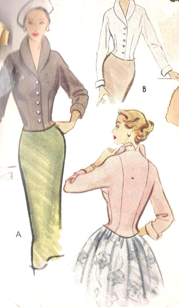 1950s Misses Fitted Jacket McCall Pattern 8473