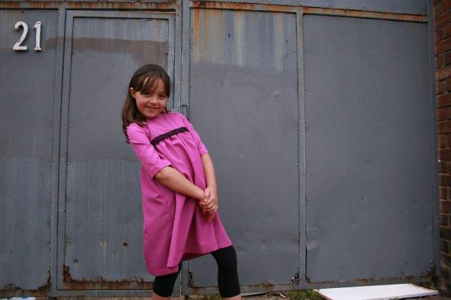 Samaria's pink dress