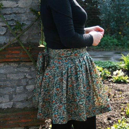 Floaty floral mini with sash
