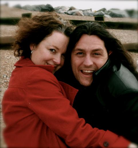 with fiance Daniel