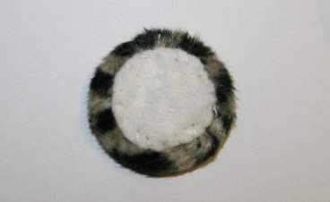 Sew felt circle to back
