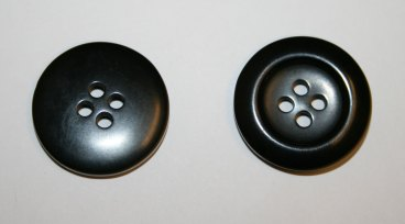 Left: wrong side of button, Right: topside of button