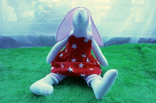 Tilda bunny party dress