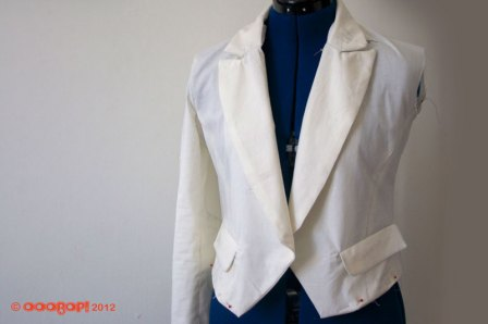 jacket toile with notched-collar