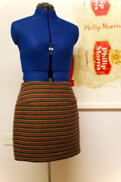 snuggly stripy skirt