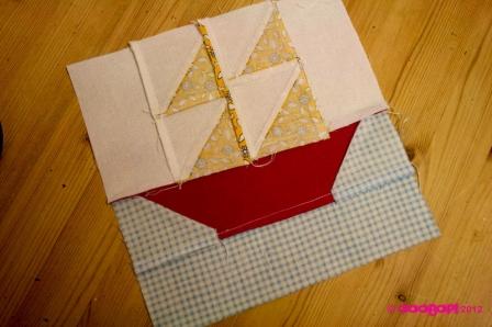 sailboat quilt block reverse