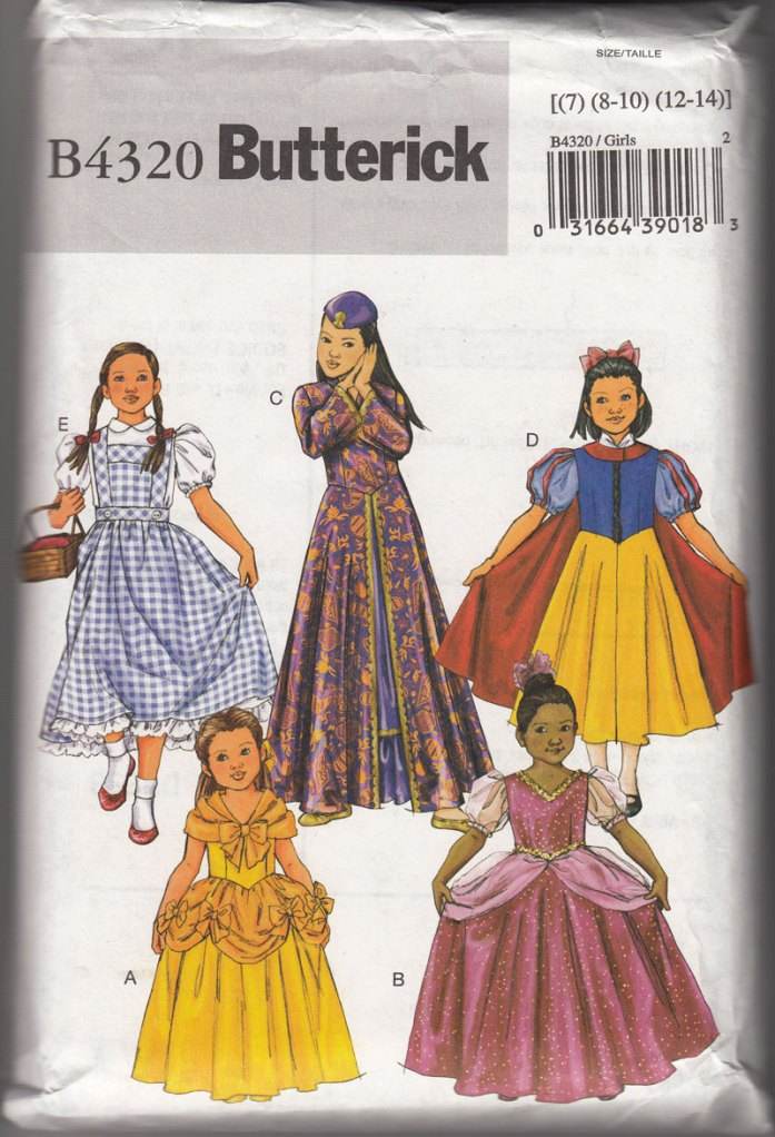 B4320_Butterick_childrens_costumes