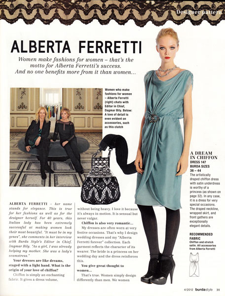 burda april 2012 ferretti dress