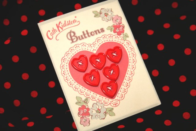 Cath kidston heart buttons