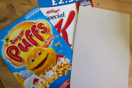 cereal box card