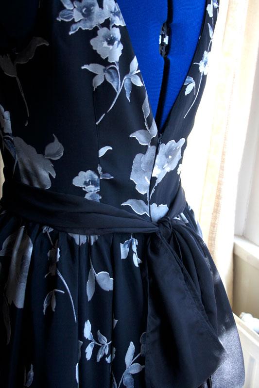 party dress sash detail