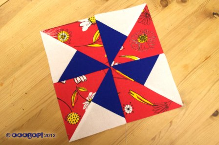 Windmill quilt block