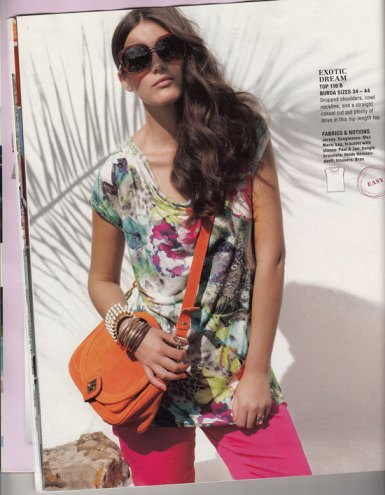 burda may 2012 easy top