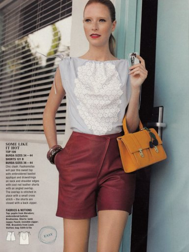 burda may 2012 retro shorts