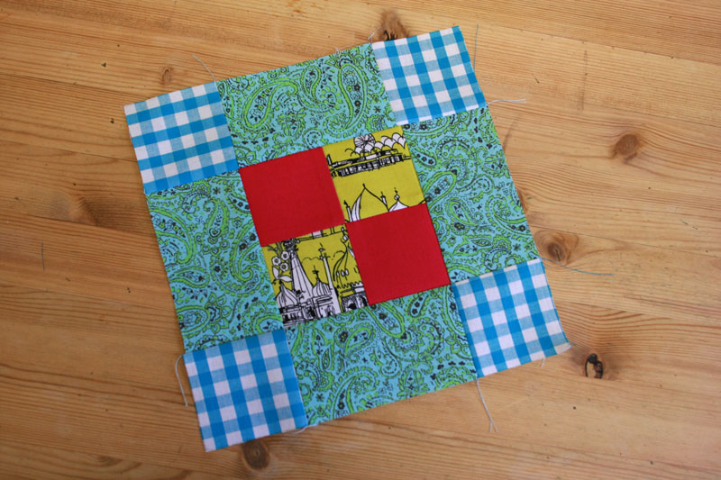 chequer square block