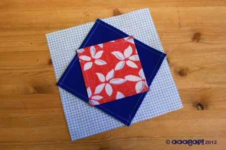 diamond square quilt block reverse
