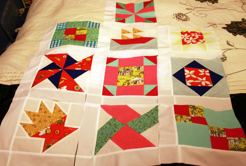 first 10 quilt blocks