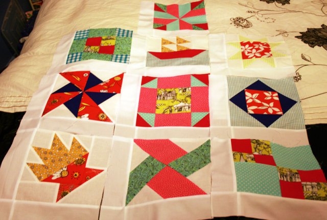 first 10 quilt blocks