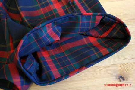plaid shorts cuff