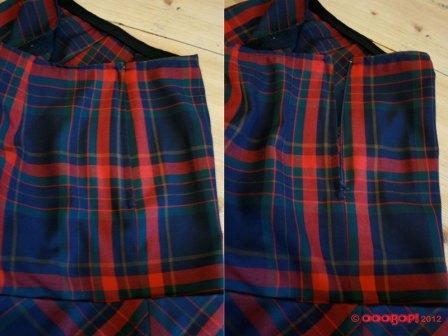 plaid shorts side zip