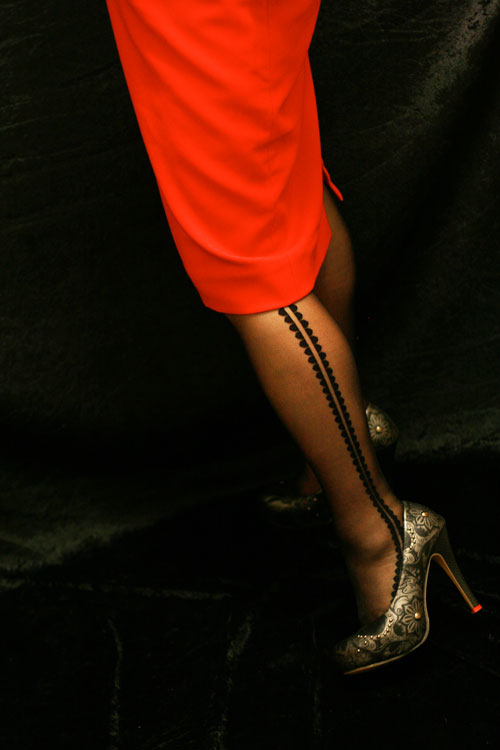 side detail on tights