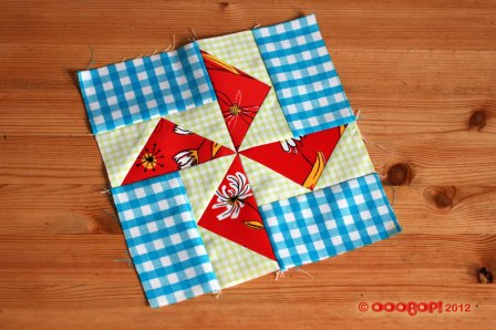 Windmill sails quilt block