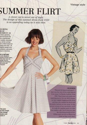 burda style july 2012 vintage dress