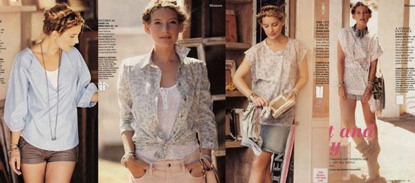 burda style july 2012 blouses