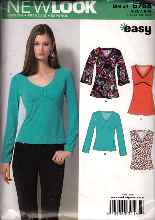 new look 6753 sewing pattern