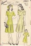 Advance 3883 40s dress pattern