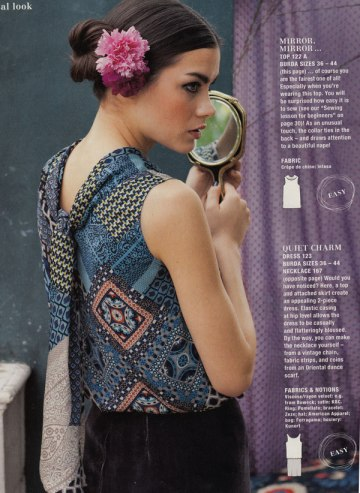 Burda Style August 2012 tie back top